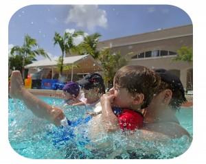 parent and child swim